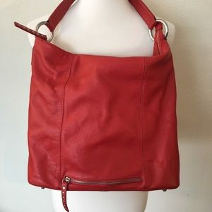 Mila Paoili Red Leather Purse